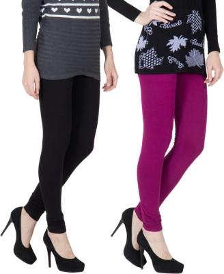 VERMELLO Women's Black, Purple Leggings