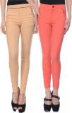 iHeart Women's Pink, Beige Jeggings (Pac...