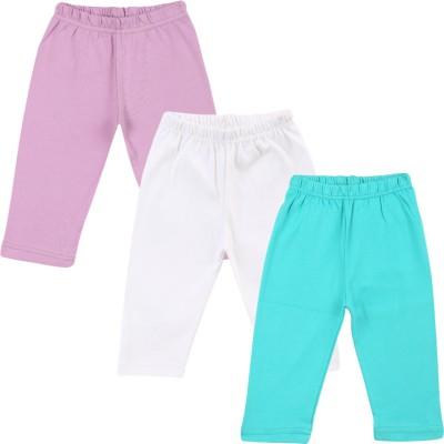 Color Fly Baby Girls Purple, Green, White Leggings