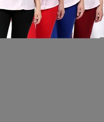 Elevate Women Women's White, Red, Maroon, Blue, Black Leggings