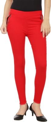 Lambency Women's Red Jeggings