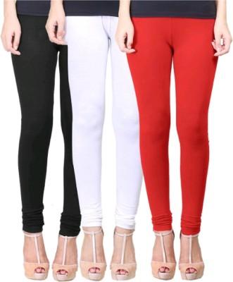 UMESH FASHION Women's White, Red, Black Leggings