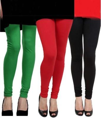 Lavish Women,s Green, Red, Black Leggings