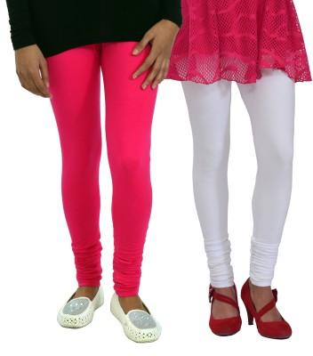 Femninora Women's White, Pink Leggings