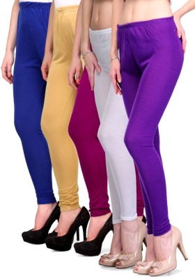 Rowena Women's Blue, Beige, Purple, White Leggings
