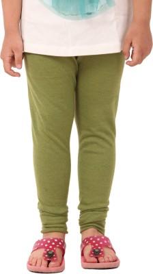 Vostro Moda Girl's Green Leggings