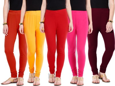 Ten on Ten Women's Pink, Maroon, Red, Orange, Yellow Leggings