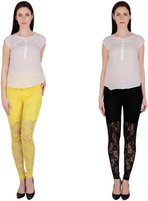 Simrit Women's Yellow, Black Leggings