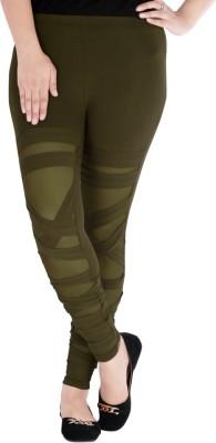 Caricature Clothing Women,s Dark Green Leggings