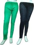 Miraaya Women's Green, Black Jeggings (P...