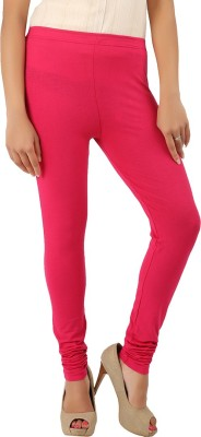 CURVIVA Women's Red Leggings