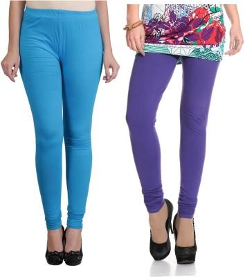 Ahhaaaa Women's Blue, Purple Leggings