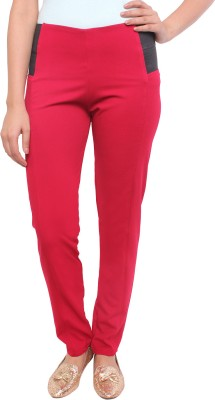 White Feather Women's Maroon Jeggings