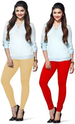 Amul Florio Women's Beige, Red Leggings