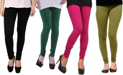 Dharamanjali Women's Black, Green, Pink, Dark Green Leggings