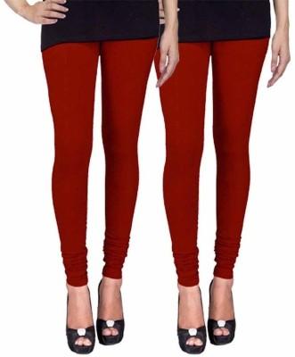 Ayesha Fashion Women's Maroon Leggings