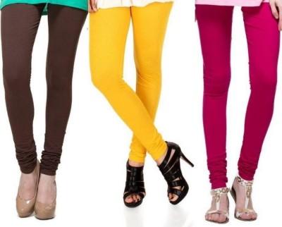 Zadine Women's Brown, Orange, Pink Leggings