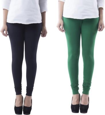 Prashil Women's Black, Green Leggings