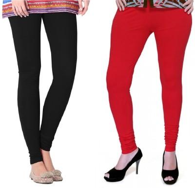 Colors More Women's Red, Black Leggings