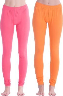 Spictex Girl's Pink, Orange Leggings