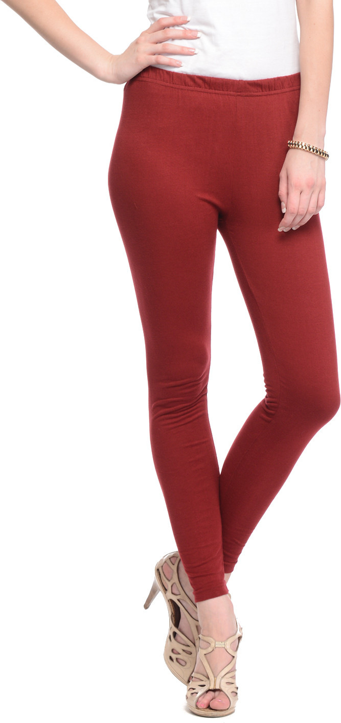 Gritstones Womens Maroon Leggings