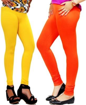 By The Way Women's Yellow, Orange Leggings