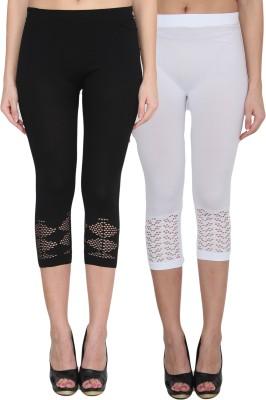 NumBrave Women's Black, White Leggings