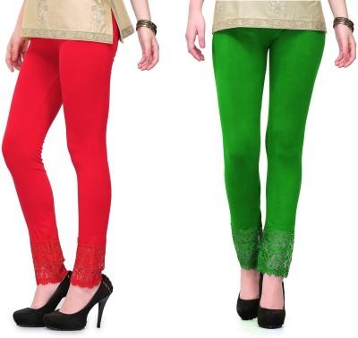 RobinRomeo Women's Green, Red Leggings