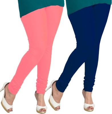 I-Diva Women's Pink, Dark Blue Leggings