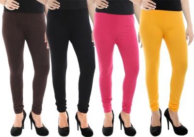 Paulzi Women's Brown, Black, Pink, Yellow Leggings