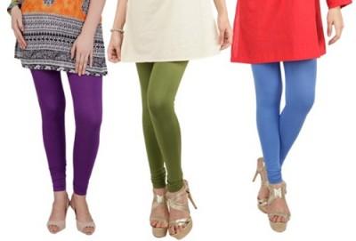 Prekrasna Women,s Purple, Blue, Light Green Leggings