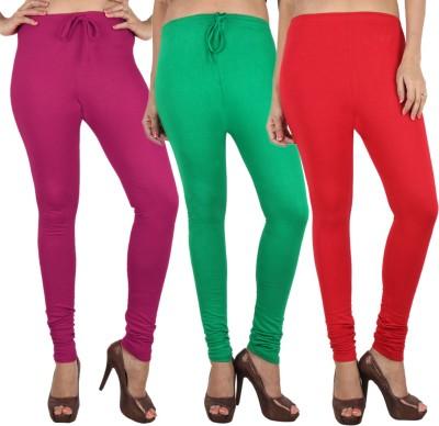 Danbro Women's Red, Green, Pink Leggings