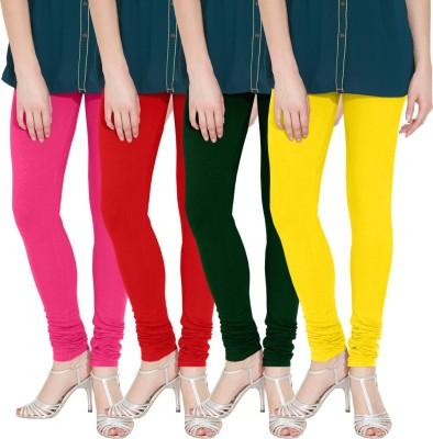 Nicewear Women's Pink, Red, Green, Yellow Leggings