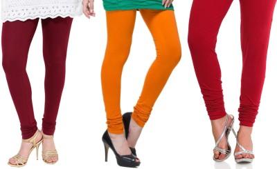 Lienz Women's Maroon, Orange, Red Leggings