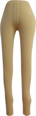 Revinfashions Women,s Beige Leggings