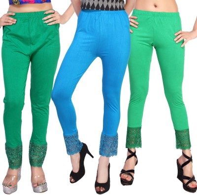 Comix Women's Green, Light Blue, Light Green Leggings