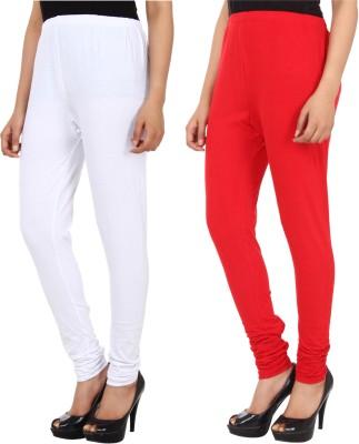 Xposé Women's White, Red Leggings