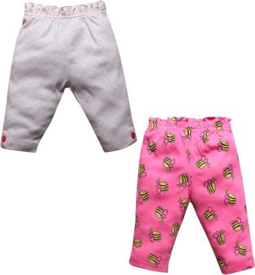 FS Mini Klub Baby Girl's Pink, White Leggings