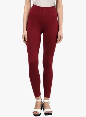 V Brown Women's Red Leggings