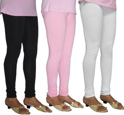 LE, SUPER Women's Black, White, Pink Leggings