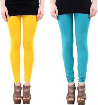 Mynte Women's Yellow, Blue Leggings