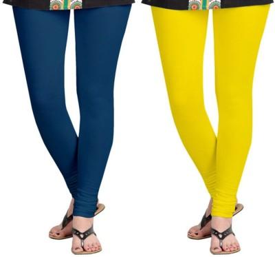 Shree Ji Enterprises Women's Yellow, Blue Leggings