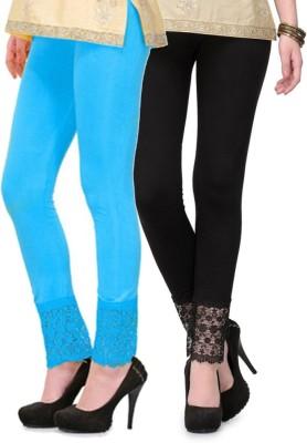 RobinRomeo Women's Black, Blue Leggings