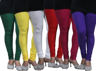 Apsn Retail Women's Green, Yellow, White, Red, Maroon, Blue Leggings