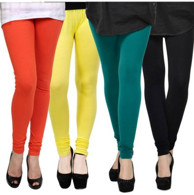 Fashion Zilla Women's Orange, Yellow, Blue, Black Leggings