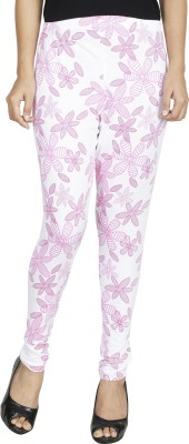 Anekaant Women's Pink, White Leggings