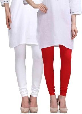 Desi Duos Women's Red, White Leggings