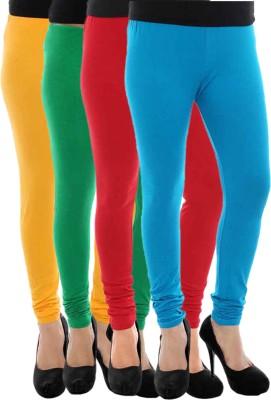 Paulzi Women's Yellow, Green, Red, Blue Leggings