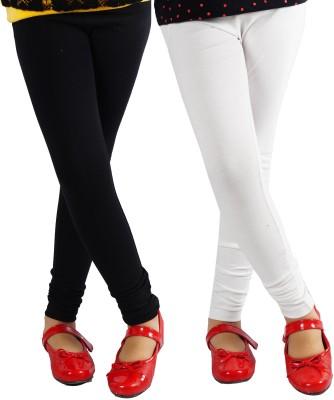 Naughty Ninos Girl's Black, White Leggings