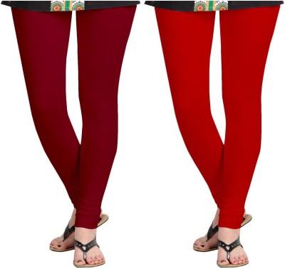 ZACHARIAS Women's Maroon, Red Leggings